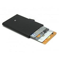 C-Secure turvalompakko / luottokorttikotelo, musta alumiini